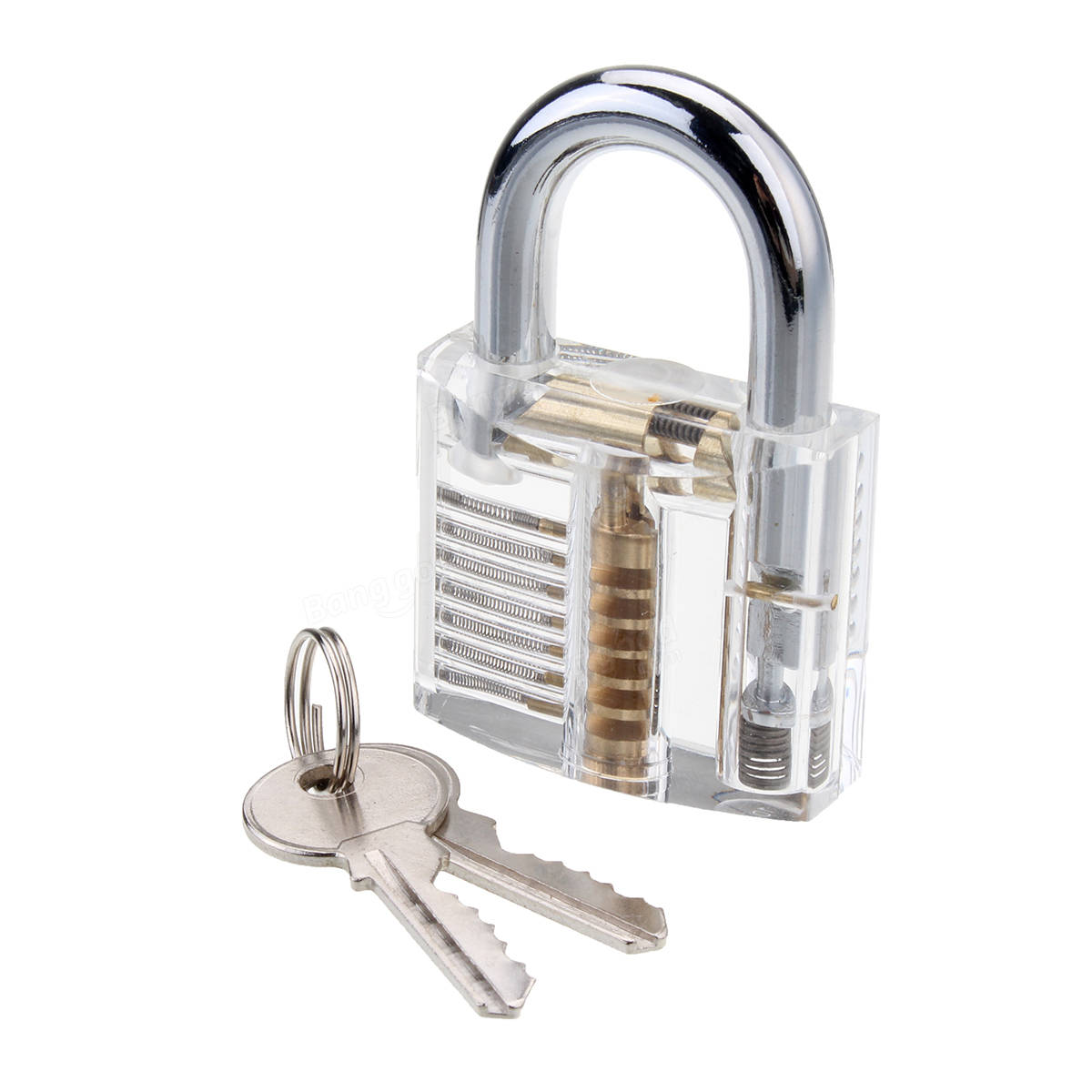 Goso 26-pieces Lock Pick Set for Beginner with Transparent Practice Padlock