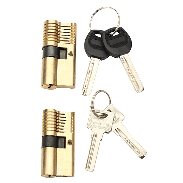 SPARTA 2pcs 7 Pins Visible Cutaway Practice Lockpick For Locksmith Beginner