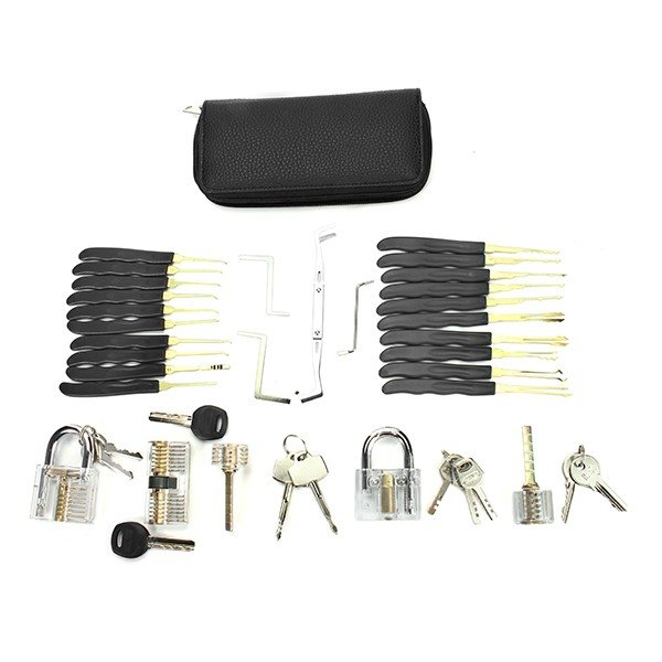 Sparta Full Practise Lock Pick Set with 5 Transparent Lock For Beginner