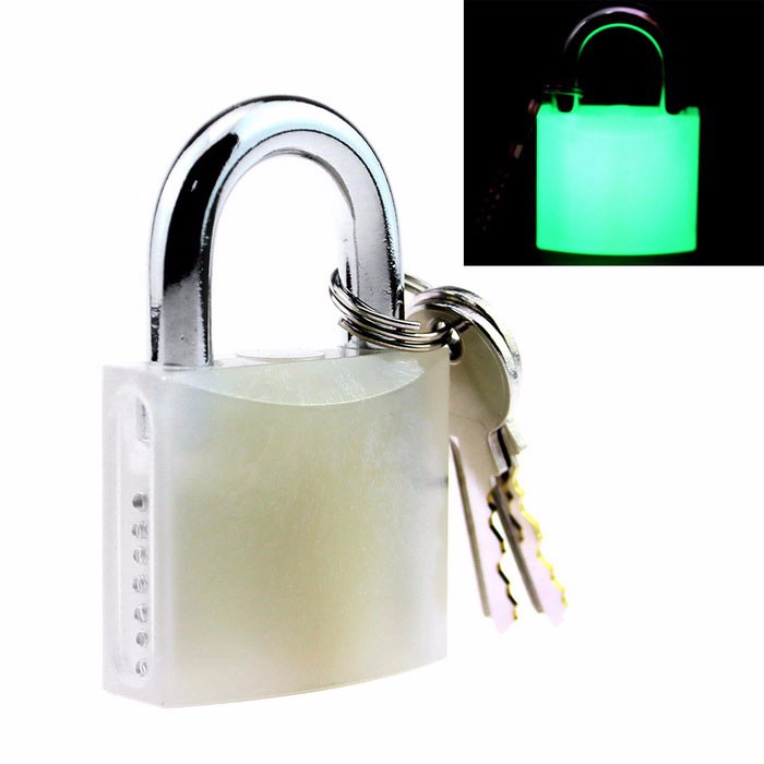 SPARTA visible luminous lock for locksmith Practice Beginner - Glow in the dark locks.