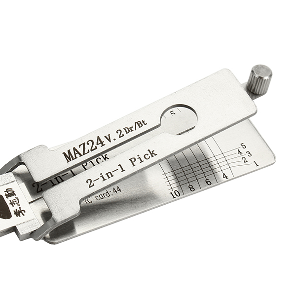 Lishi 2 in 1 MAZDA MAZ24 V.2 Dr/Bt Key Decoder - Car Auto Door Lock Pick - Professional Locksmith
