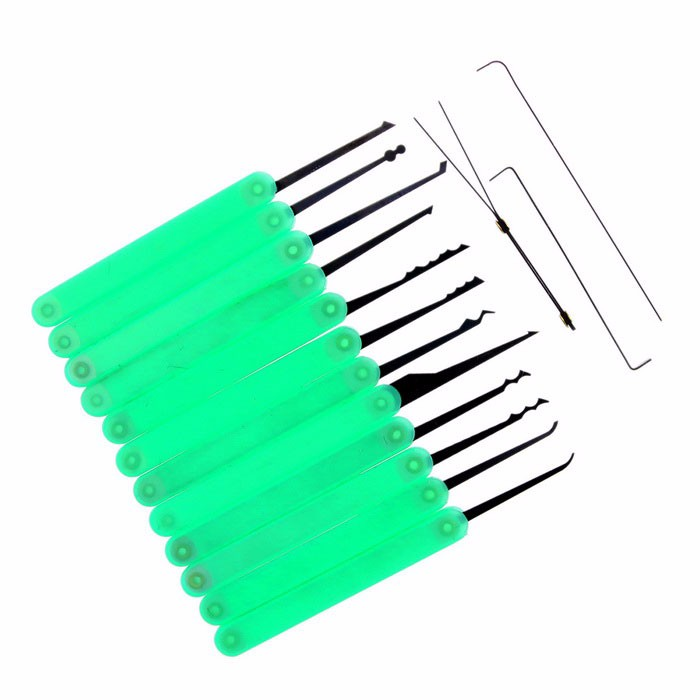 Goso 12-pieces Green Lock Picking Tools