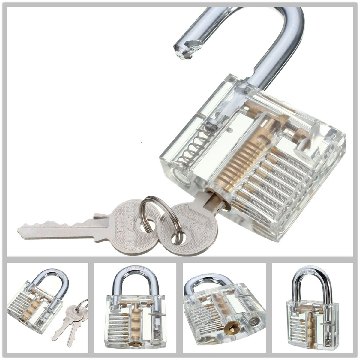 SPARTA visible cutaway practice lock for locksmith beginer - Lock picking training
